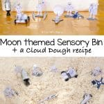 Cloud Dough Recipe – Moon and Space Sensory Bin