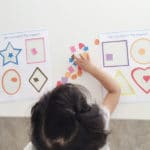 Sticker Preschool Shapes Matching Activity