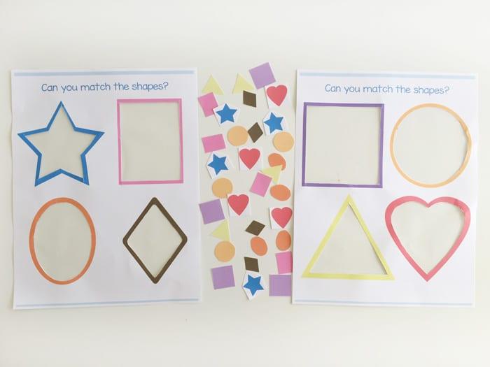 Preschool Shape Matching Activity