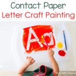 Contact Paper Letter Painting