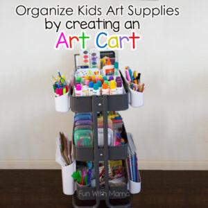 Ikea raskog art cart for kids