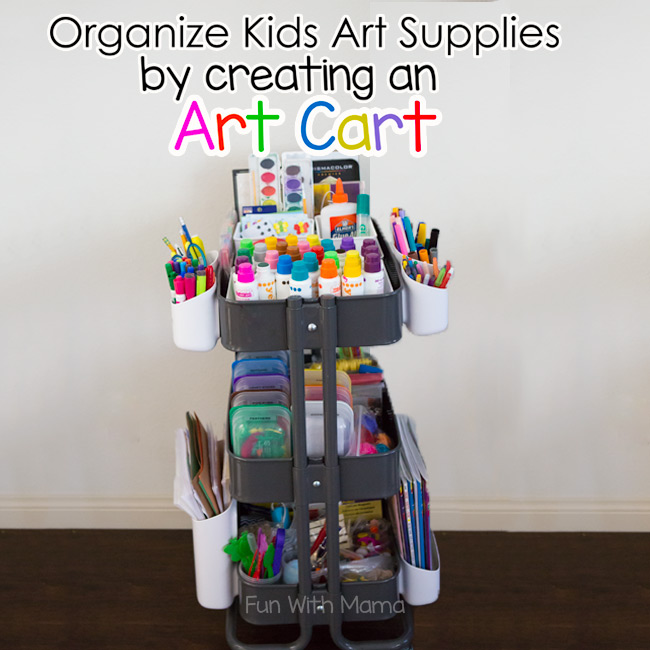Ikea raskog art cart for kids