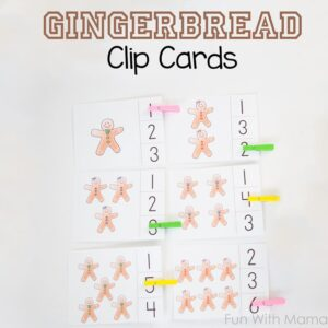 gingerbread clip card activity