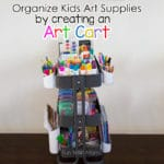 Kids Art Cart With Ikea Raskog