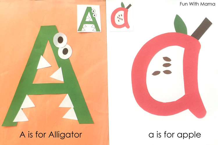 graphic about Printable Letter a called Printable Alphabet Letter Crafts - Enjoyment with Mama