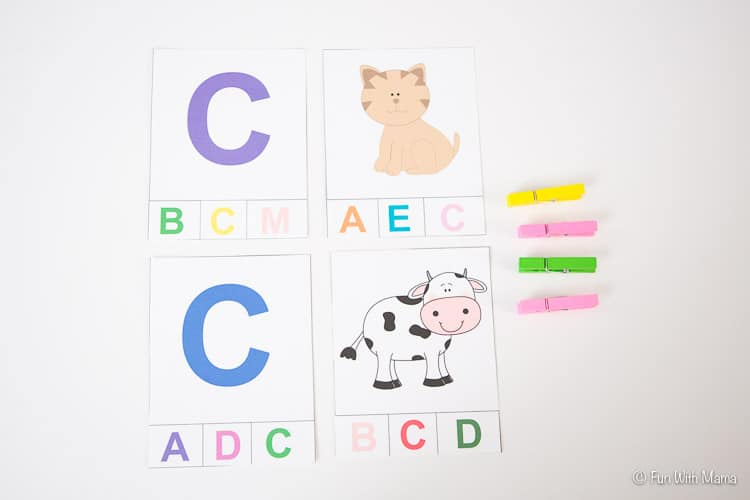 letter c clothespin activity