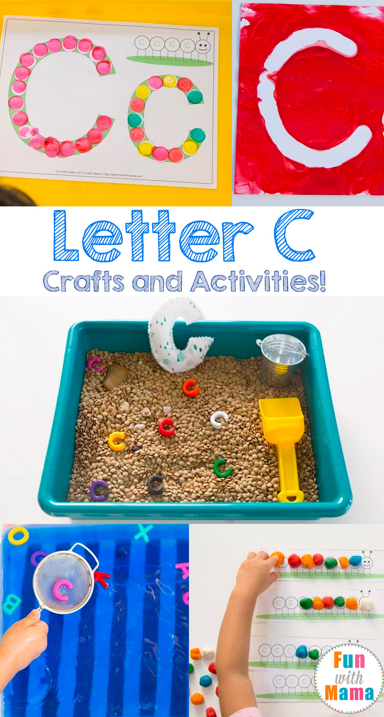 Printable letter c crafts and activities fun with mama for Art and craft games