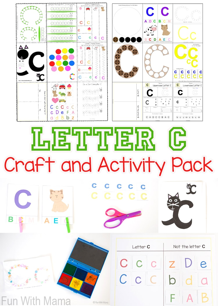 These letter c crafts and activities are perfect for your toddler or preschooler's letter of the week homeschool curriculum.