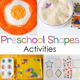 preschool shapes activity