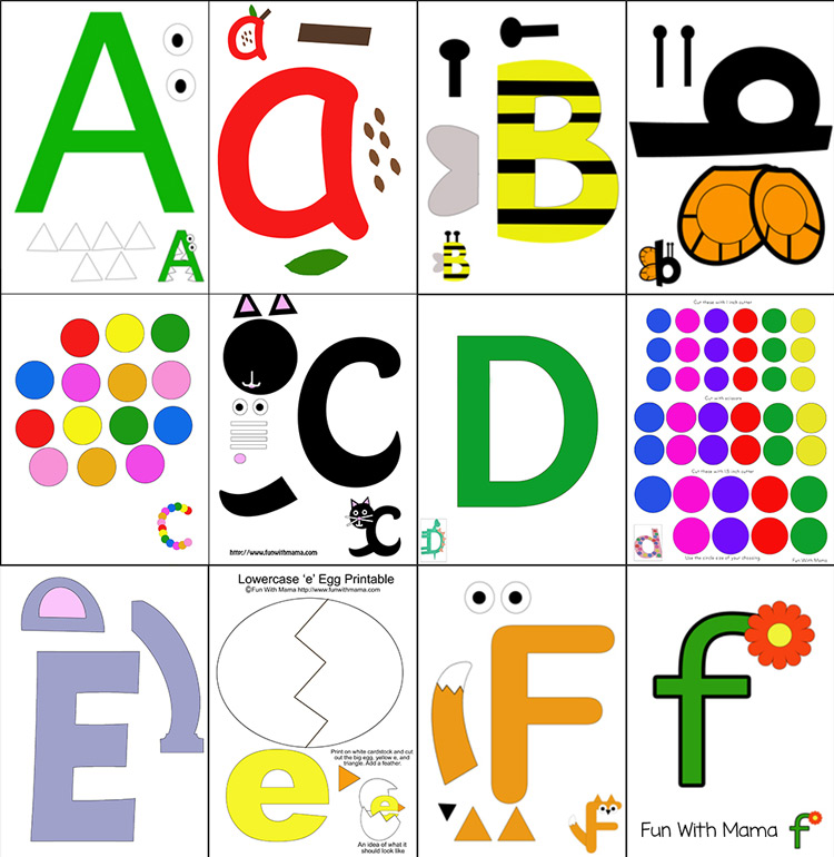 Printable Alphabet Letter Crafts - Fun with Mama