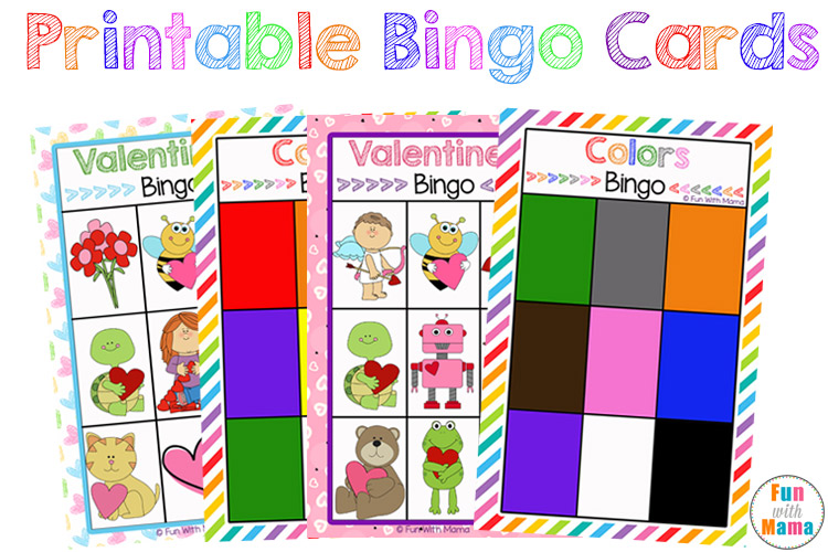 photograph about Printable Cards for Kids identify No cost Printable Bingo Playing cards for Small children - Exciting with Mama