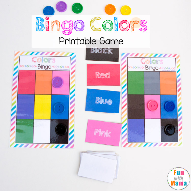 photo relating to Bingo Chips Printable referred to as Printable Bingo Colours - Enjoyment with Mama