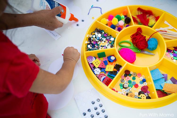 kids collage activity