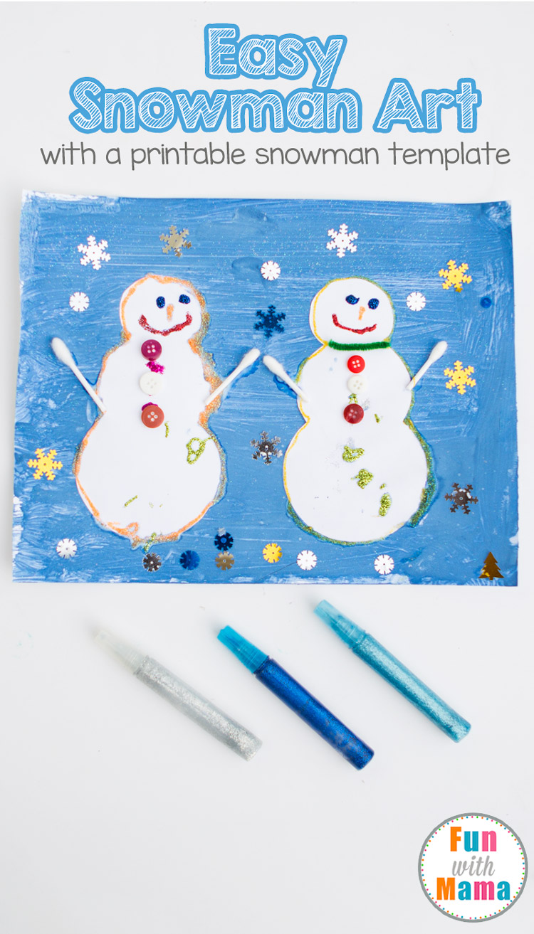 Easy Open Ended Art Snowman Craft Painting - Fun with Mama
