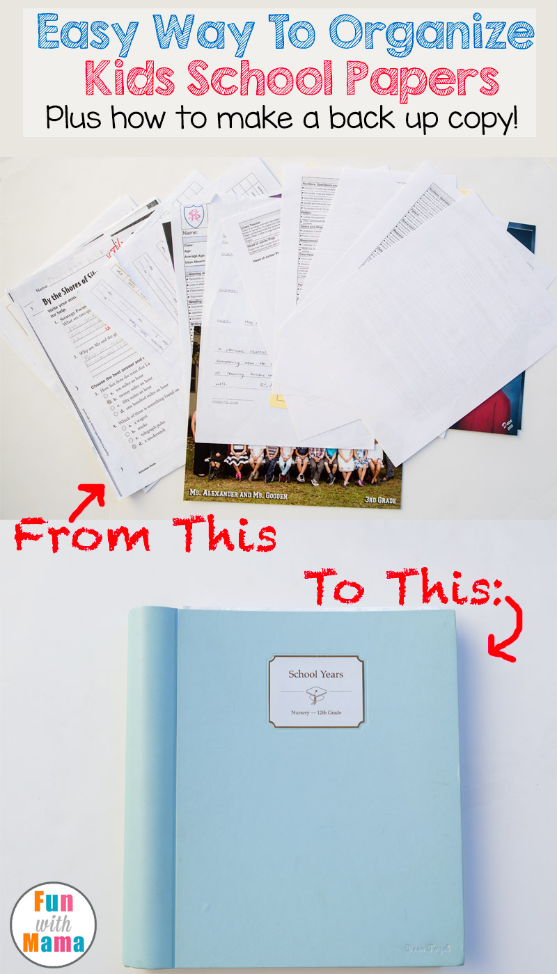 Easy Way To Contour Your Face: Easy Way To Organize Kids School Papers