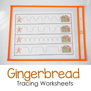 Gingerbread Tracing Worksheets