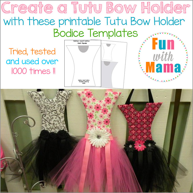 Tutu-hairBow-holder-pattern