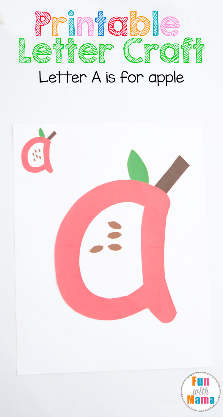 photo regarding Printable Apple Pictures named Printable Letter A Crafts A for Apple - Pleasurable with Mama