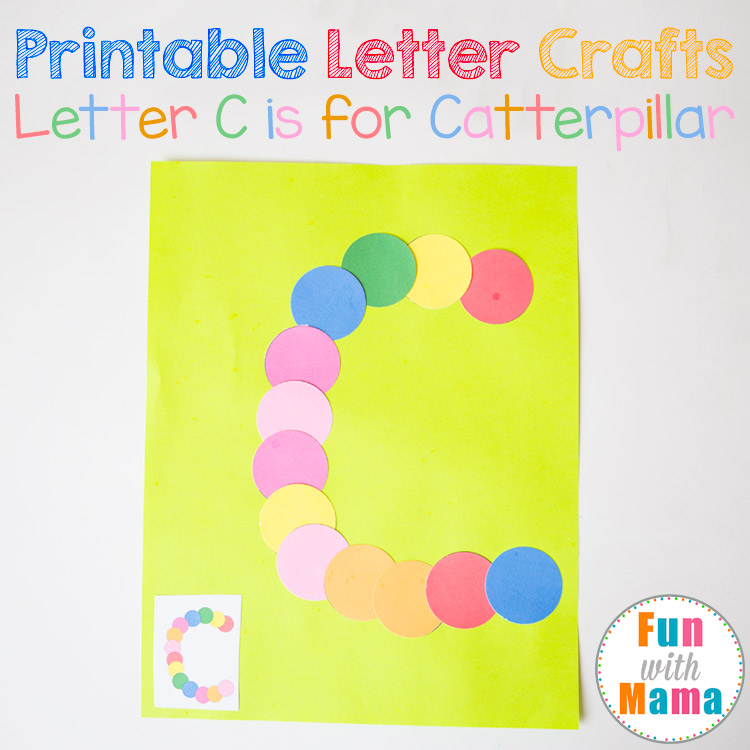 photograph regarding Letter C Printable Template identify Printable Letter C Craft: C is for Caterpillar - Pleasurable with Mama
