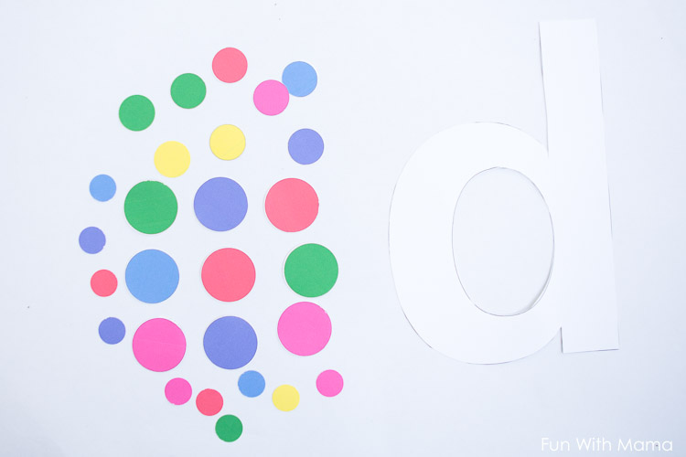 letter d template