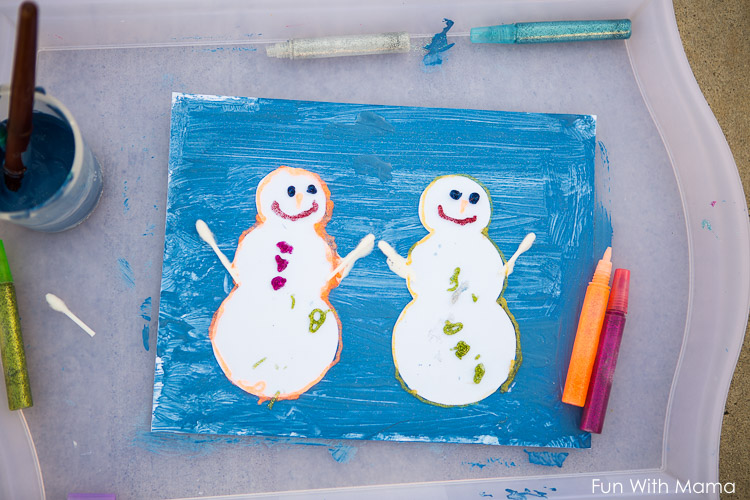 painting snowman crafts