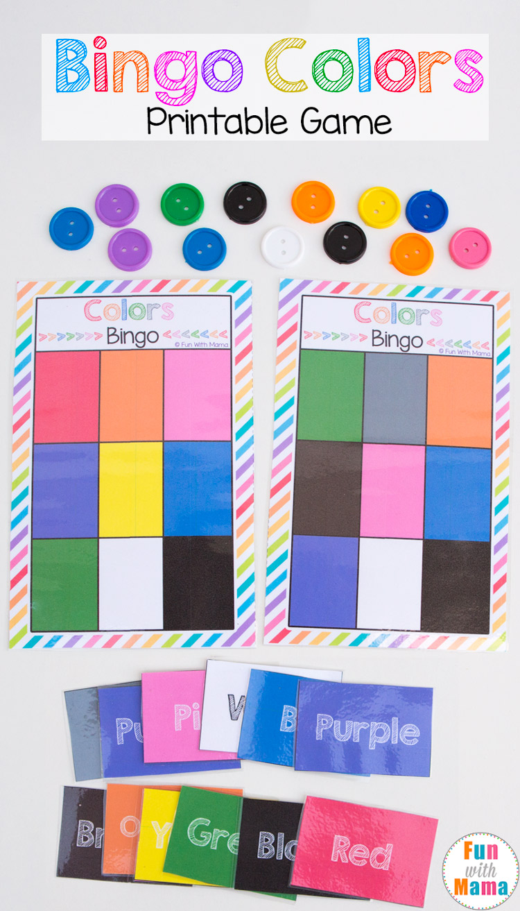 image relating to Bingo Chips Printable known as Printable Bingo Shades - Enjoyment with Mama