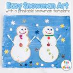 Easy Open Ended Art Snowman Craft Painting