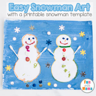easy preschool snowman art