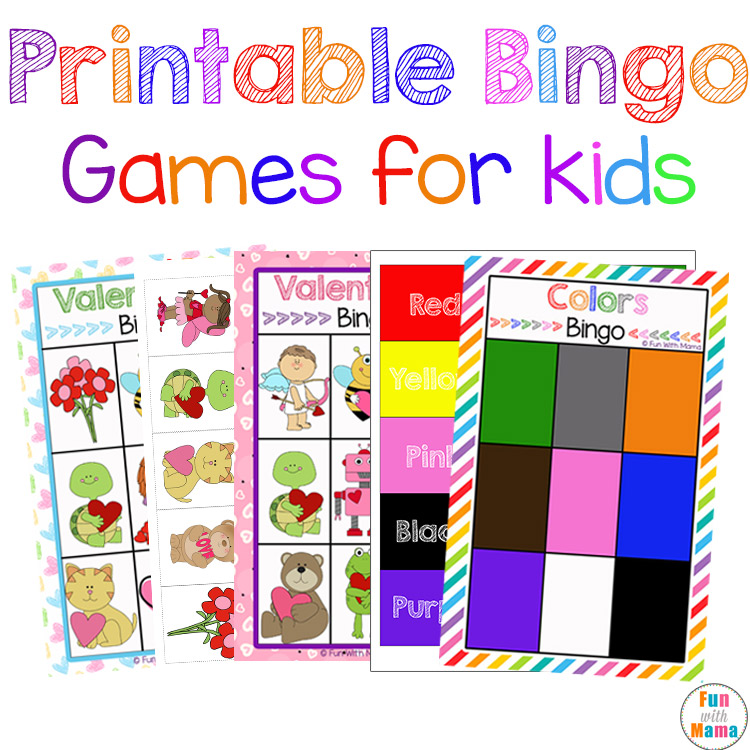 graphic relating to Shape Bingo Printable named Cost-free Printable Bingo Playing cards for Young children - Entertaining with Mama