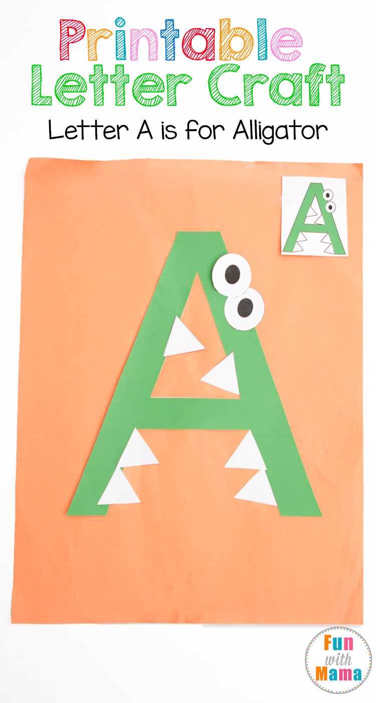 picture regarding Printable Letter a titled Printable Letter A Crafts A is for Alligator