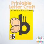 Printable Letter B Crafts B is for Butterfly