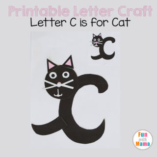 Printable Letter C Crafts: C is for Cat