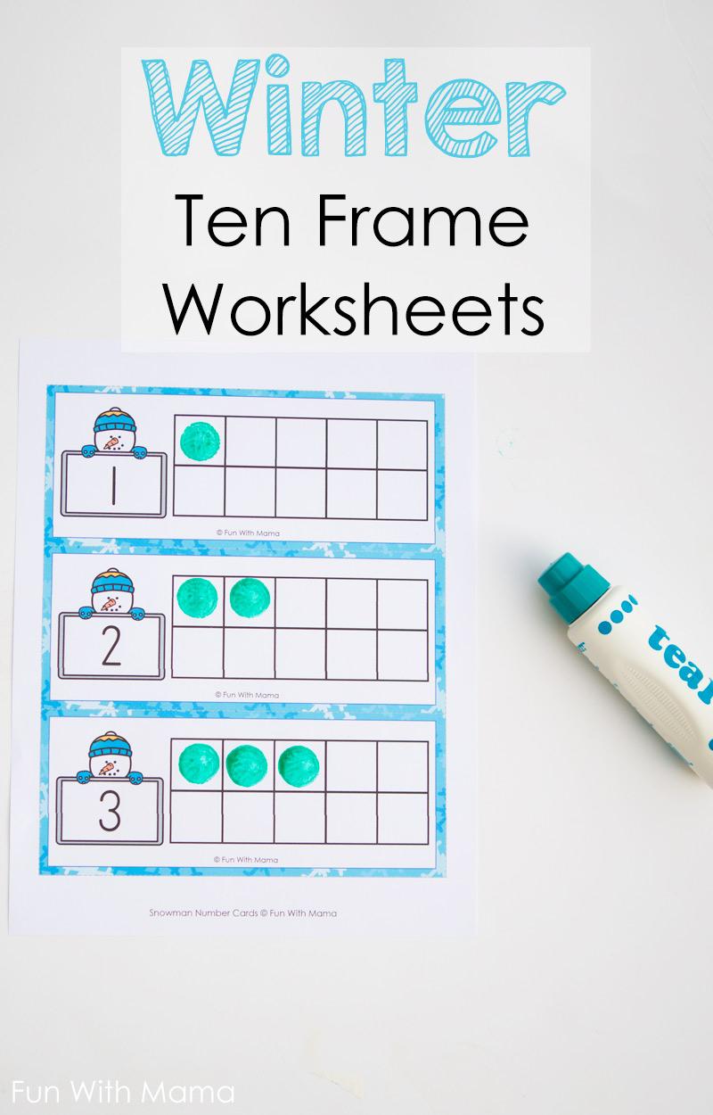 printable ten frame worksheets