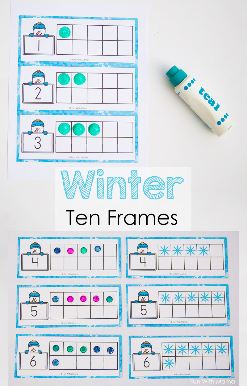 graphic about Printable 10 Frame identify Snowman Winter season 10 Body Printable - Exciting with Mama