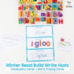 Free Winter Read Build Write Mats