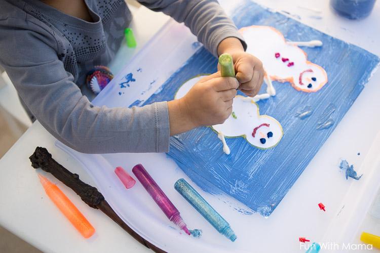snowman art activity