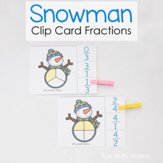 clip card fractions