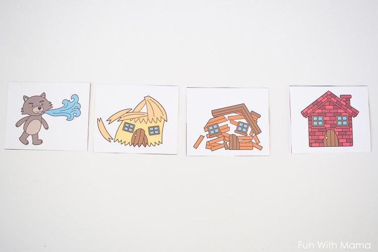three little pigs sequencing activities for preschoolers kindergarten