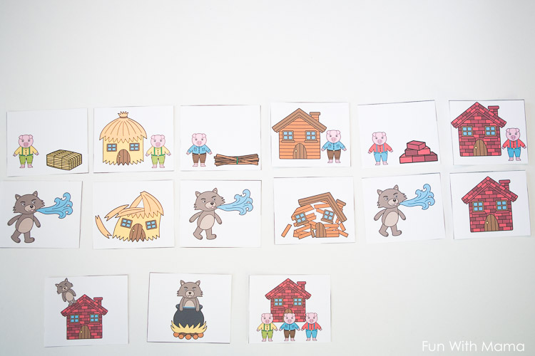graphic relating to Story Sequencing Cards Printable identify A few Small Pigs Sequencing Playing cards - Enjoyment with Mama
