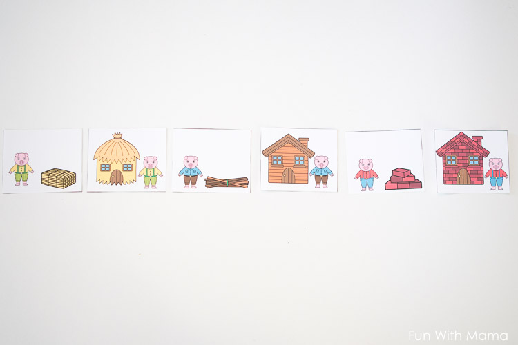 three little pigs sequencing pictures
