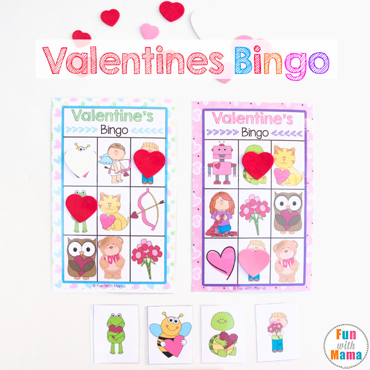 image relating to Printable Kid Valentine named Printable Valentines Bingo Match - Entertaining with Mama