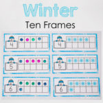 Snowman Winter Ten Frame Printable