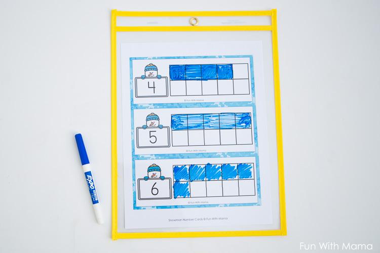 10 frame worksheets
