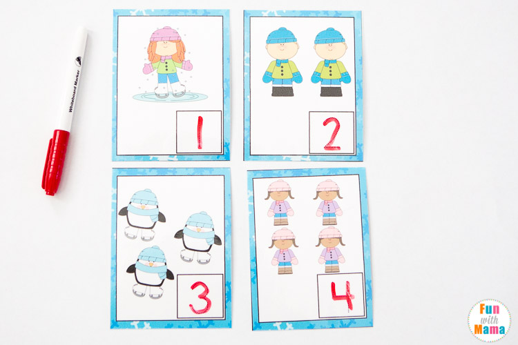 free count write and wipe cards