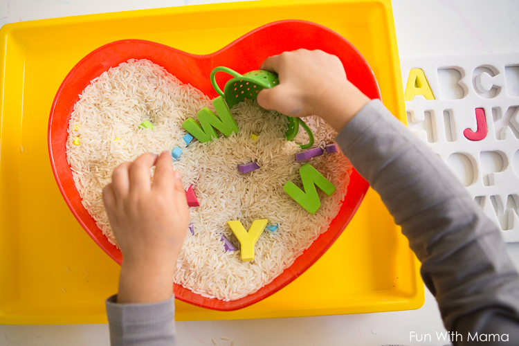alphabet letters toddler activity