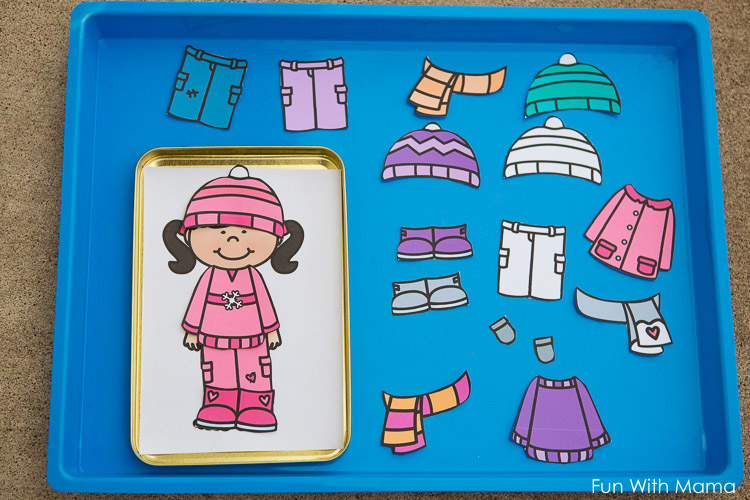 photograph about Printable Paper Dolls Clothes known as Printable Winter season Paper Dolls Gown Up Chaotic Bag - Enjoyable with Mama