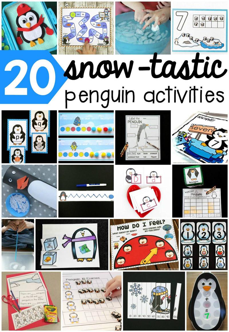 printable penguin activities