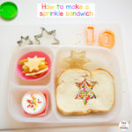 Bento Birthday School Lunch Ideas and Sprinkle Sandwich