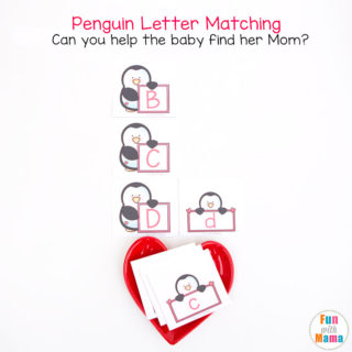 Baby Penguin Alphabet Letter Matching