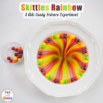 Easy Skittles Rainbow Science Experiment